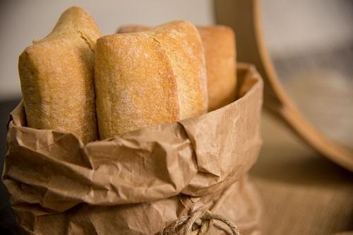 Pane del supermercato: sacchetto.