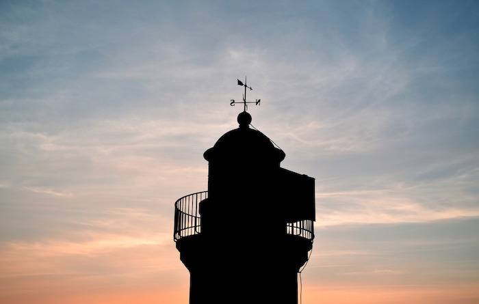 cammino dei fari tramonto