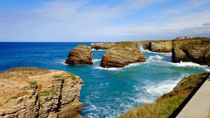 spiaggia galizia cammino dei fari