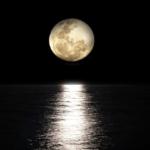 luna piena mare