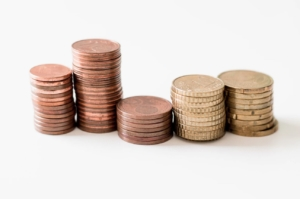 Monetine impilate centesimi euro