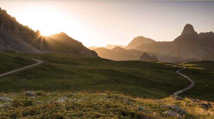 sole montagna valle maira