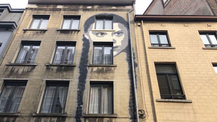 Murale Greta a Bruxelles