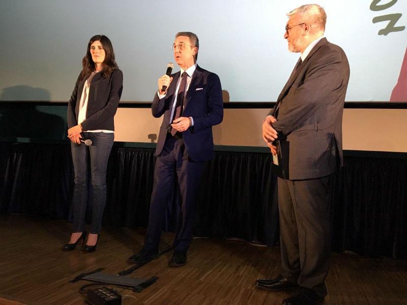 Chiara Appendino e Sergio Costa alla Closing Ceremony di CinemAmbiente 22