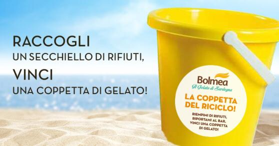 Ape-riciclo: una coppetta di gelato in regalo per chi ricicla in spiaggia