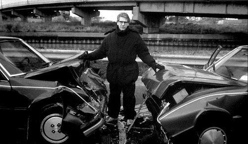 David Cronenberg sul set del film