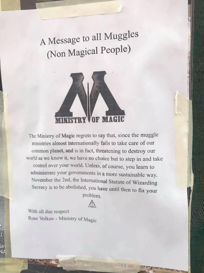 messaggio a tutti i babbani stoccolma