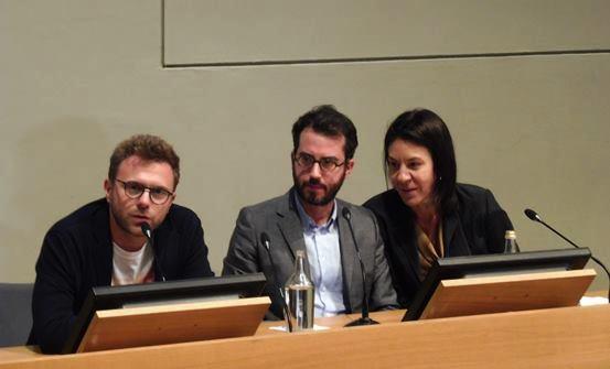 Lo scrittore Paolo Giordano ha accompagnato Jonathan Safran Foer nella sua presentazione torinese