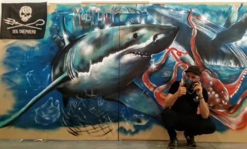 """Il tema del mare è spesso presente nelle opere dellartista romano. Fonte foto: pagina Fb """"Moby Dick"""""""
