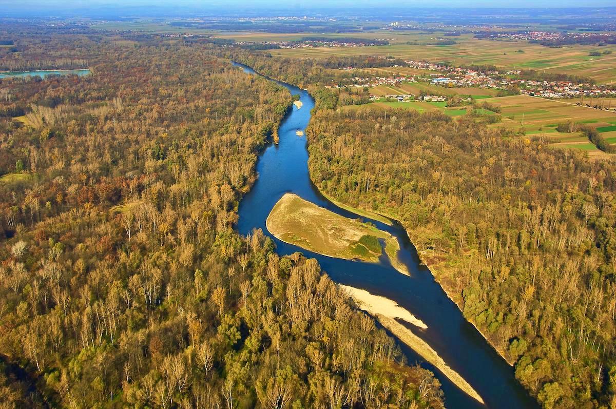 Amazzonia d'Europa Fiume Mura in Slovenia ph pagina Facebook Amazon of Europe