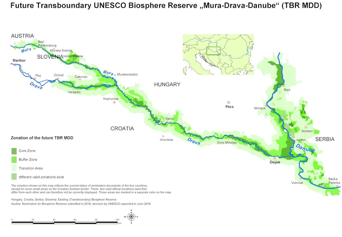 L'area interessata dal progetto Amazzonia d'Europa