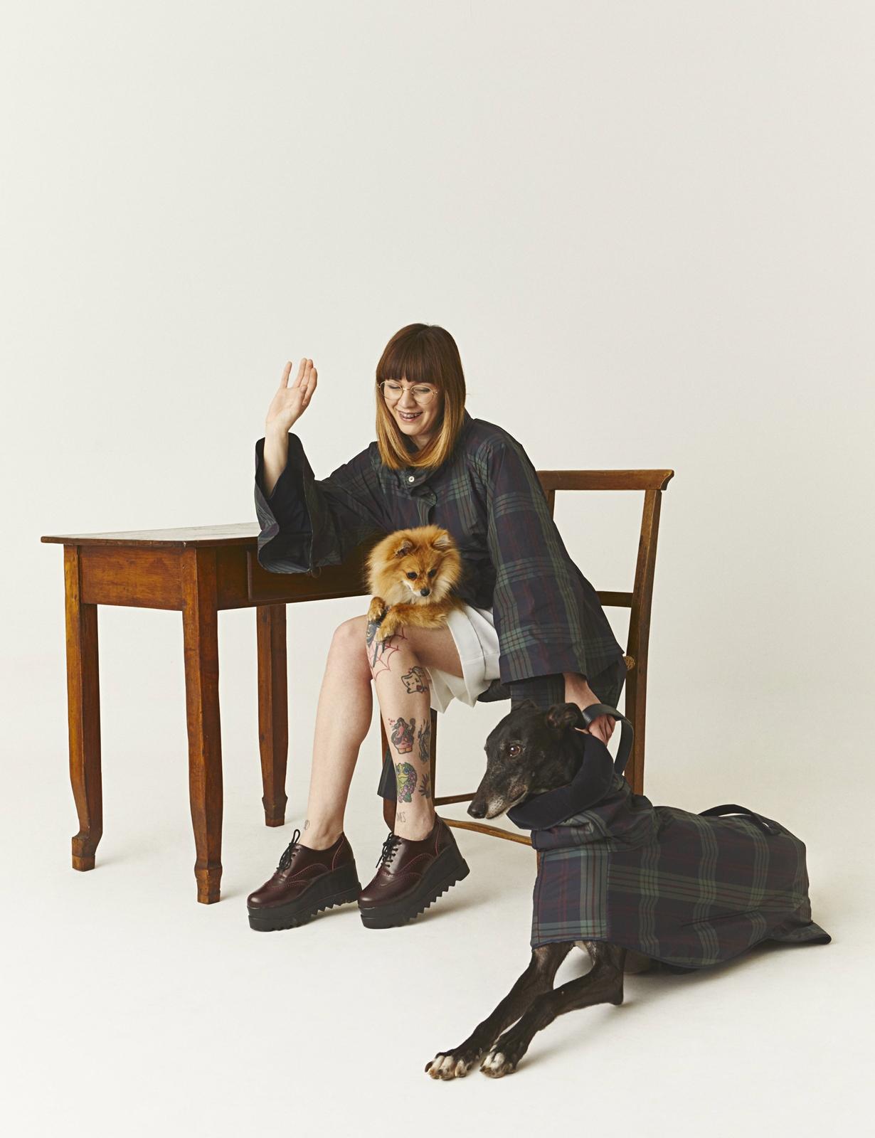 Bonnie con Itchy e Will Dog à porter