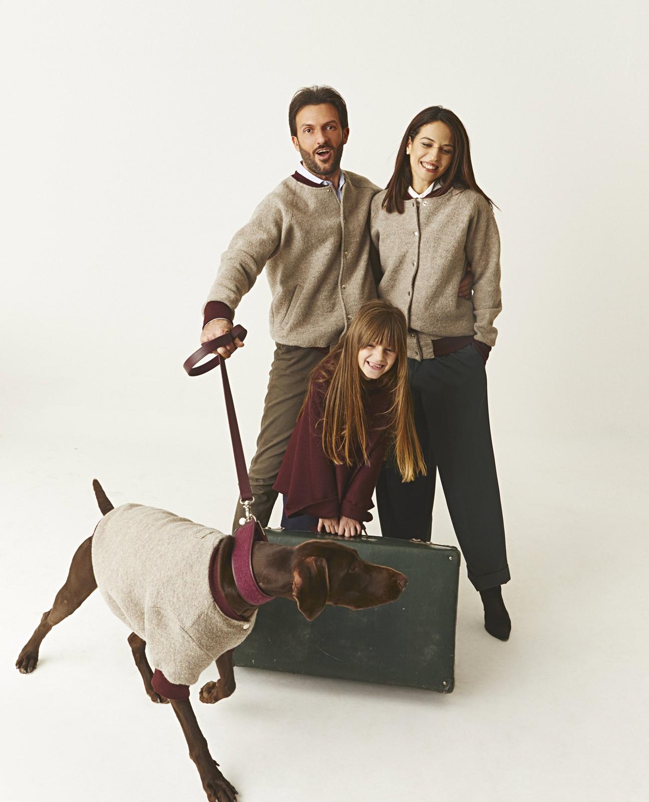 Chiara Mauro e Sofia con Jackie Dog à porter