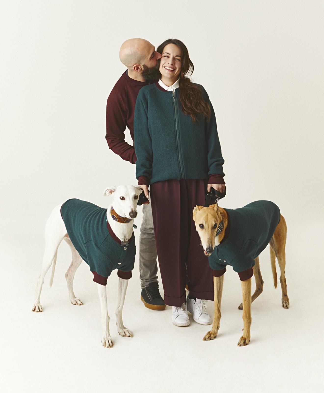 Simona e Dario con Pablo e Arthur Dog à porter
