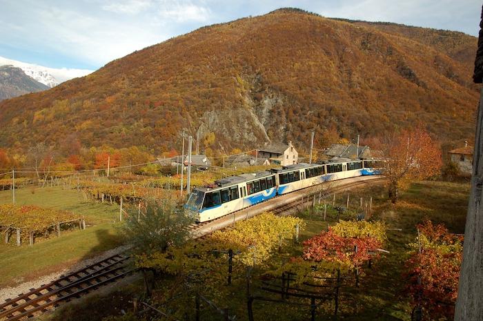 panorama treno del foliage
