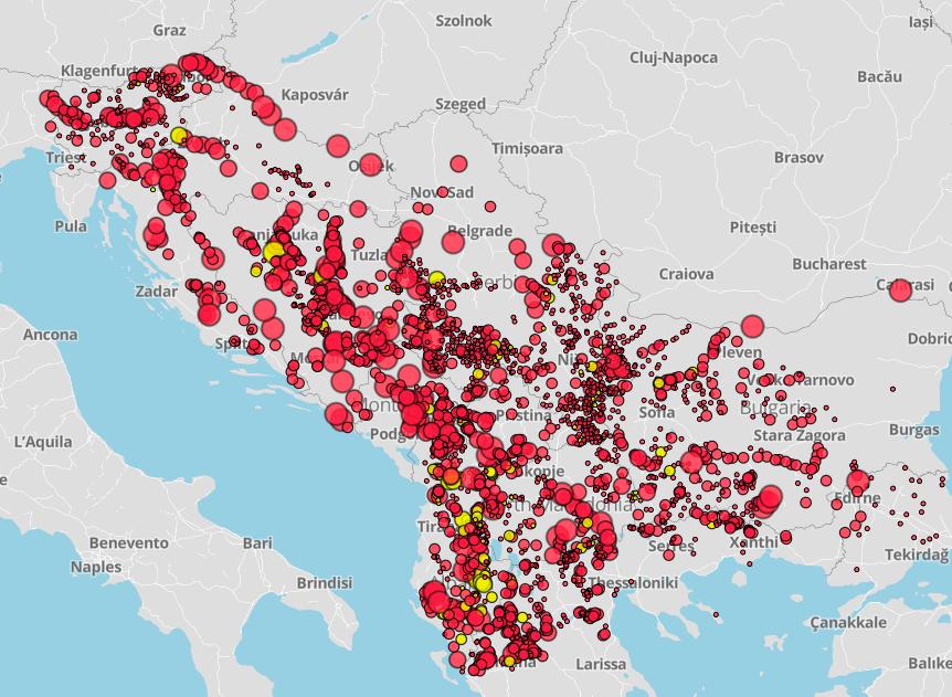 Centrali idroelettriche nei Balcani