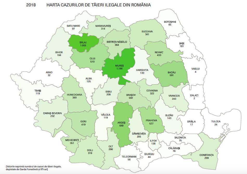 Deforestazione illegale in Romania fonte Greenpeace