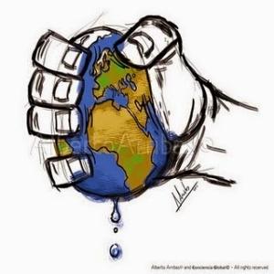Impatto ambientale pianeta in pericolo
