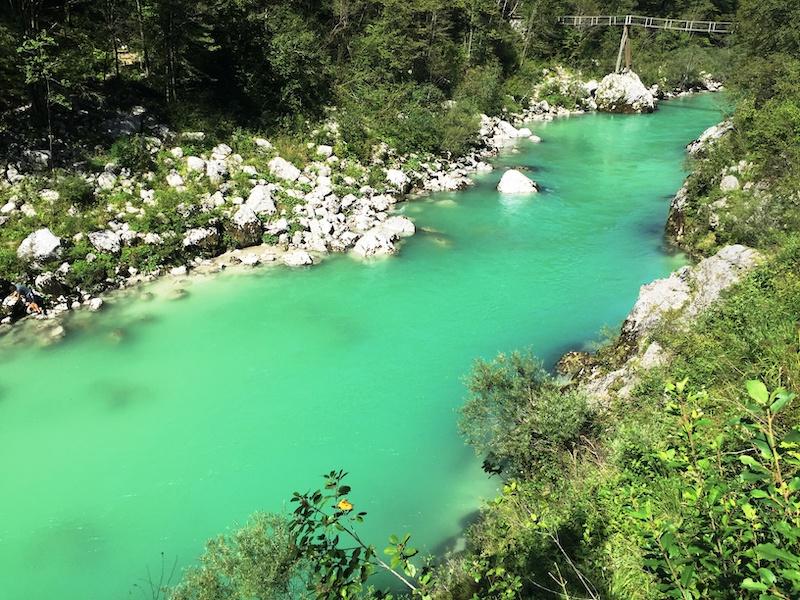 Il fiume Soča (Isonzo) in Slovenia - Foto di Francesco Rasero
