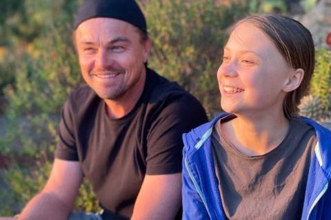 Leonardo DiCaprio con Greta Thunberg Ph Instagram