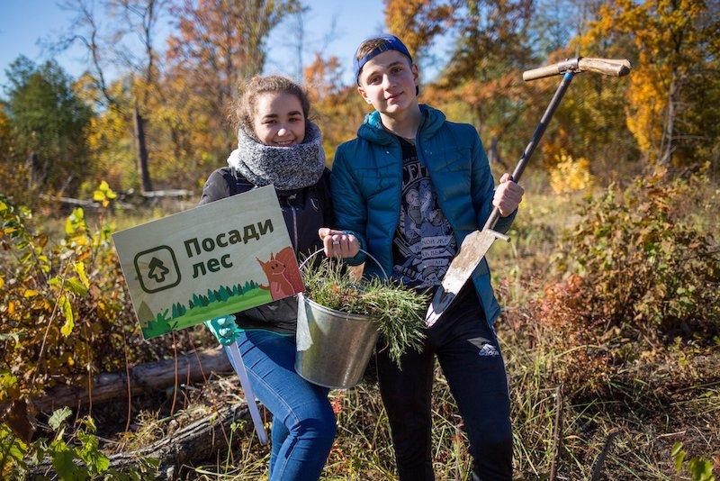 Volontari di Posadi Les all'opera (foto pagina Facebook PosadiLes.ru) Plant the Forest