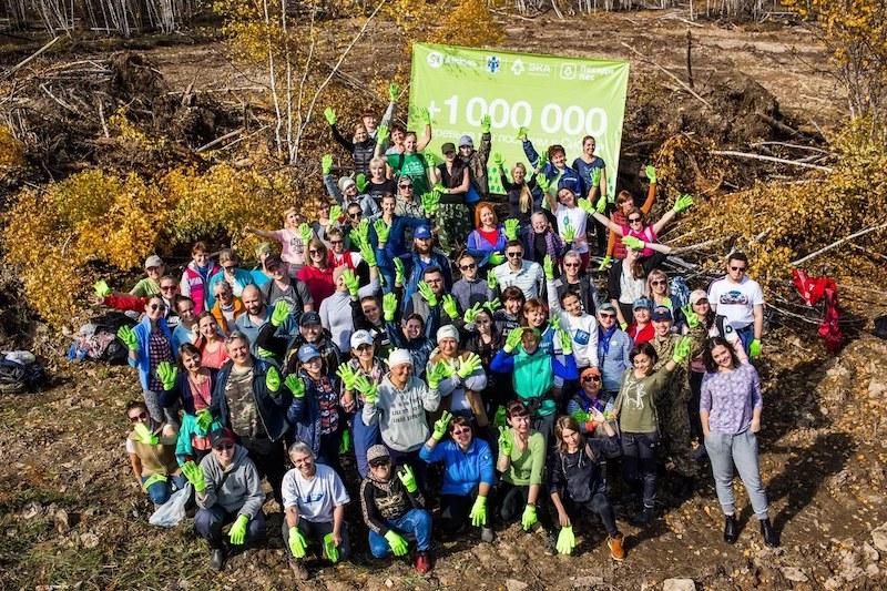 Volontari di Posadi Les (foto pagina Facebook PosadiLes.ru) Plant the Forest
