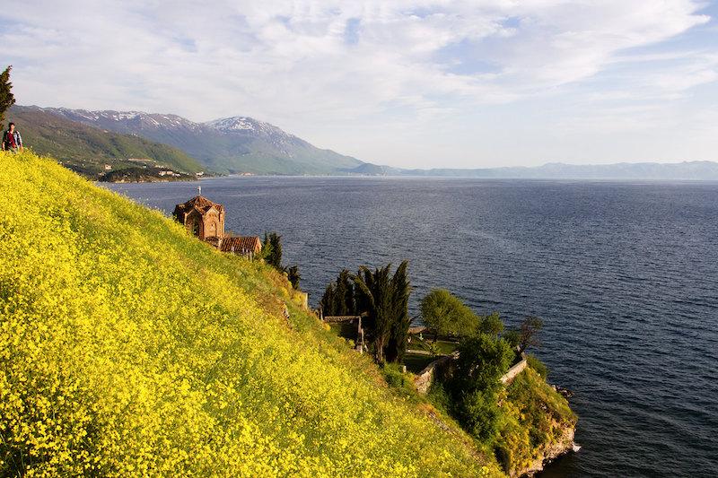 Vista del lago di Ohrid - foto di Marco Carlone