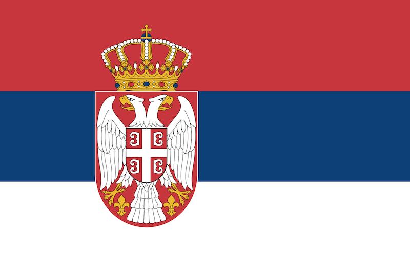 bandiera serbia con aquila imperiale orientale