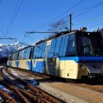 Ferrovia Vigezzina Centovalli treno panoramico nella stazione di Santa Maria Maggiore