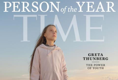Greta Thunberg Persona dell'Anno 2019 Time copertina