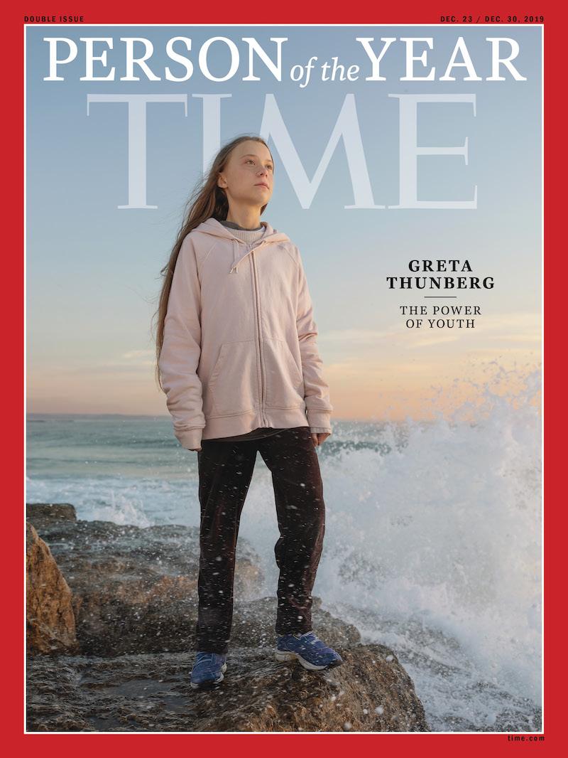 Greta Thunberg Persona dell'Anno 2019 Time