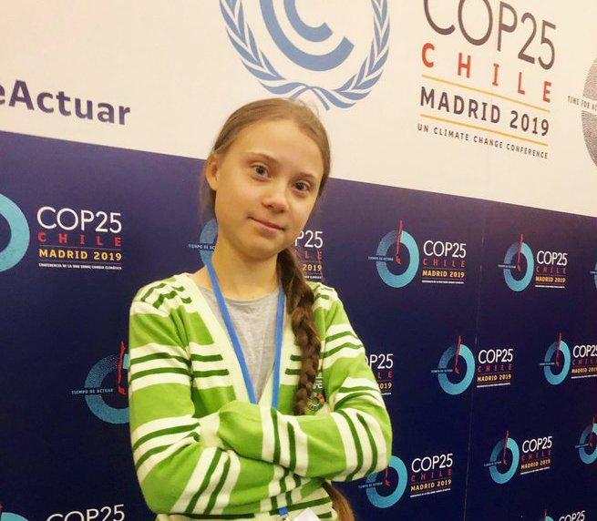 Greta alla COP25 foto Twitter
