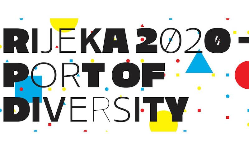 """Il logo """"Port of Diversity"""" per Fiume-Rijeka, Capitale europea della Cultura 2020"""