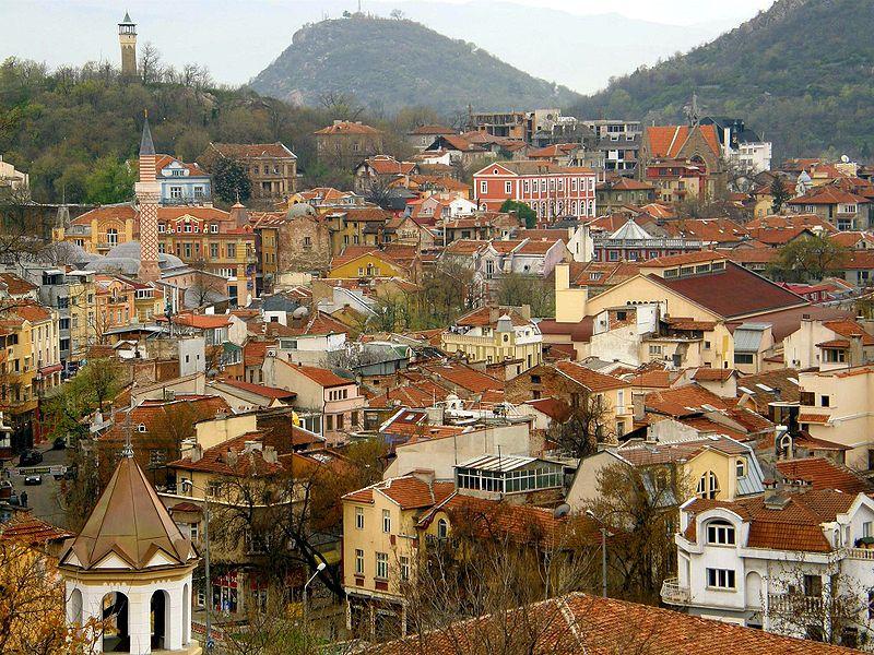Turismo in Bulgaria: vista di Plovdiv, Capitale europea della Cultura 2019 (foto di Klearchos Kapoutsis)