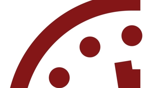 """Le lancette dell'orologio dell'apocalisse sono state impostate a 100 secondi dalla mezzanotte. Fonte foto: pagina FB """"Doomsday Clock"""""""
