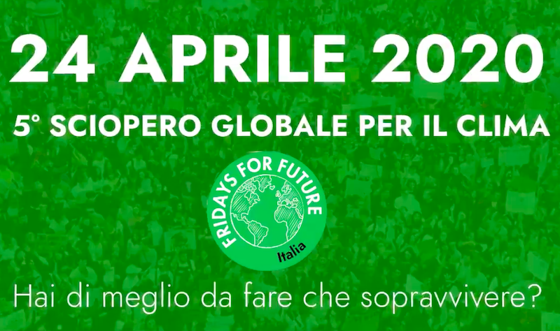 Coronavirus e crisi climatica Fridays For Future