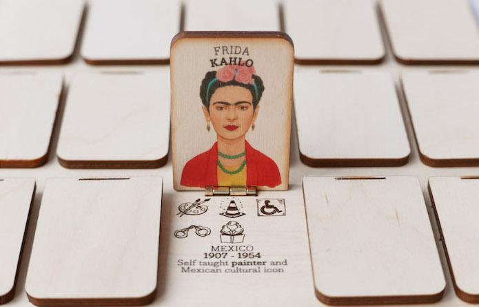 Who's She - flap up Frida Kahlo