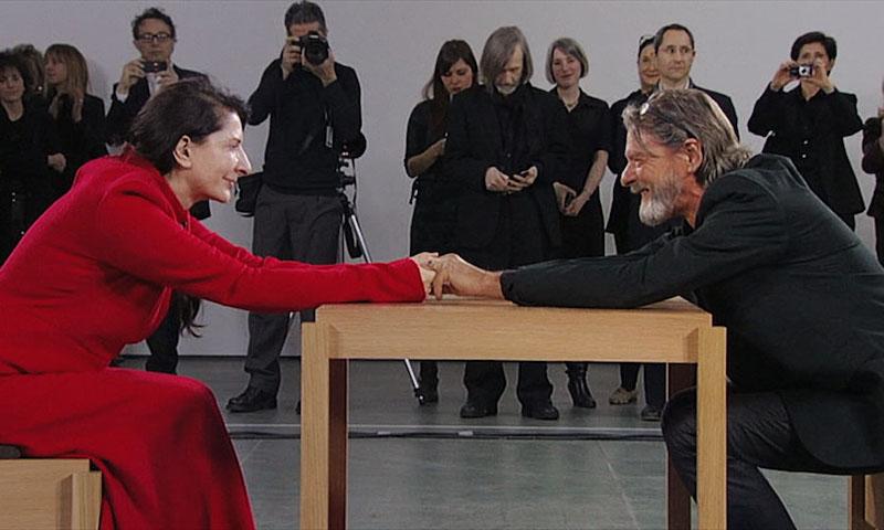 Ulay con Marina Abramović (immagine da YouTube)