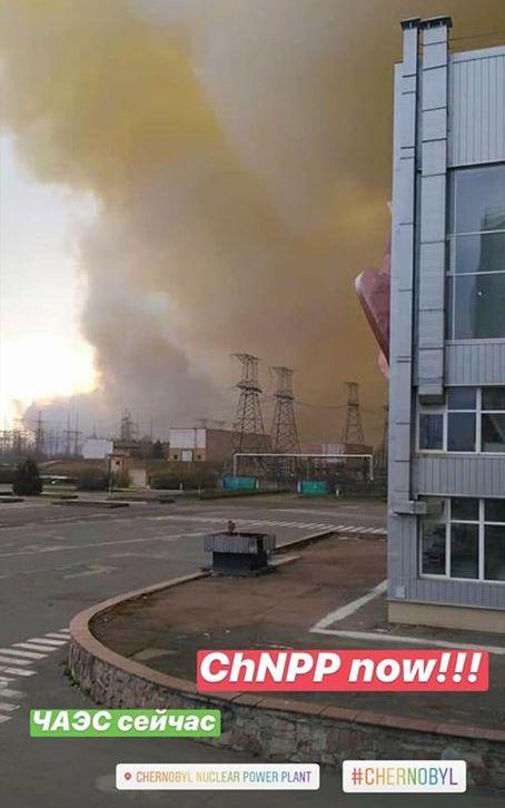 Incendi a Chernobyl aggiornamenti