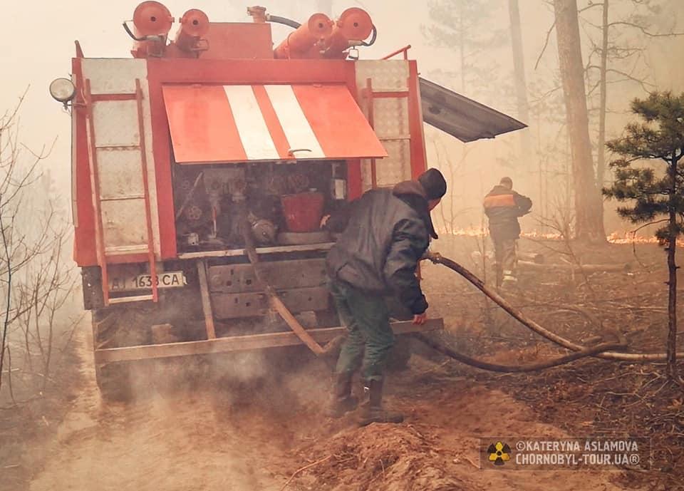 Incendi intorno a Chernobyl