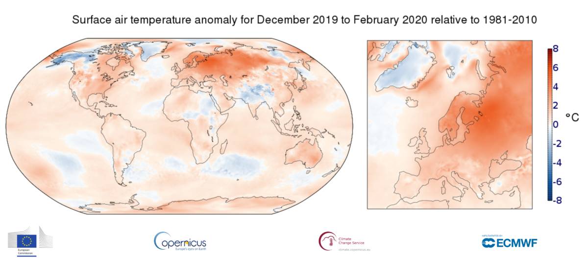Inverno da caldo record in Europa
