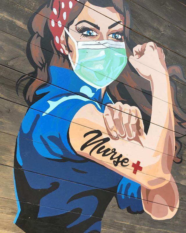 Primo Maggio 2020 murales Coronavirus