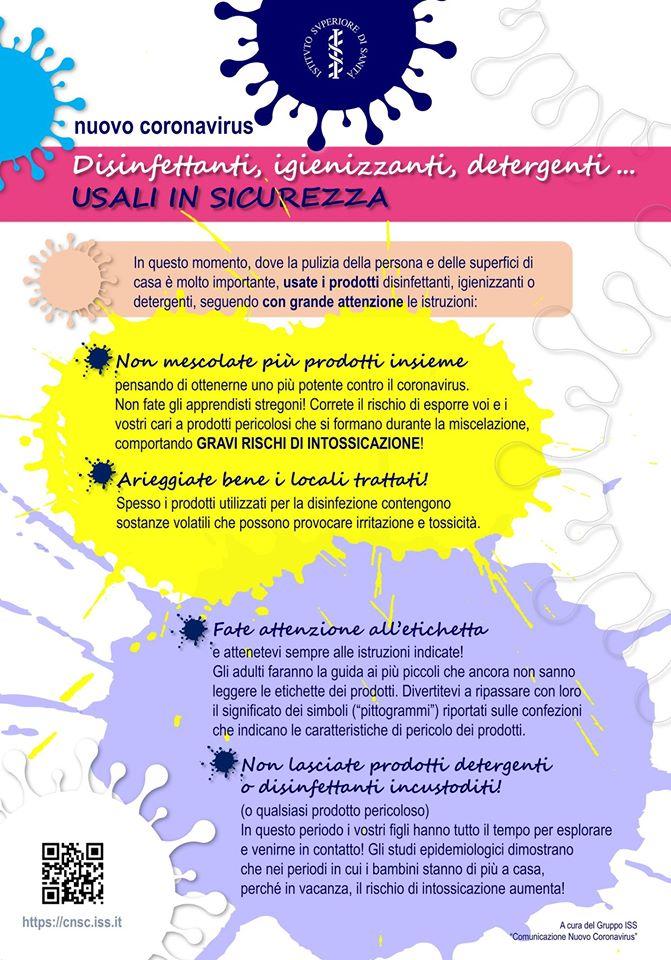 Coronavirus, disinfettanti, igienizzanti, detergenti: come usarli in sicurezza