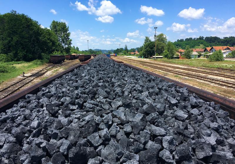 Emergenza climatica nei Balcani treno del carbone foto di Francesco Rasero