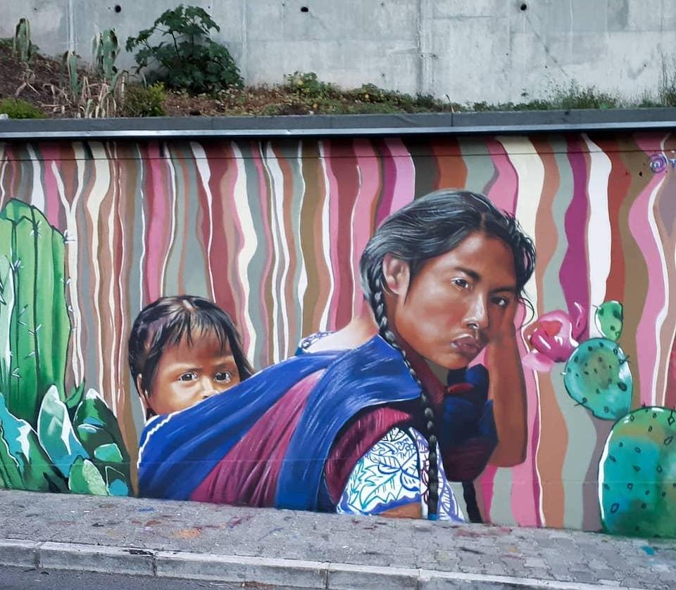 Dedicado a la mujer. Artista: Tomer Linaje. Location: Lisbona, Portogallo (foto Instagram @tomerlinaje)