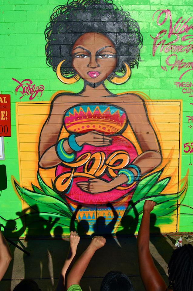 Mama Sana Vibrant Woman. Artista: TooFly. Location: Austin, Texas, Stati Uniti (foto tooflynyc.com)
