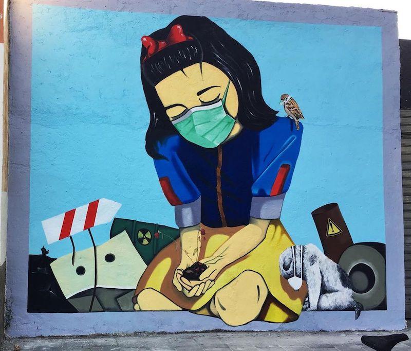 Tokë e Helmuar / Poisoned Earth. Artista: Franko Dine. Location: Tirana, Albania (Facebook: franko.dinaj)