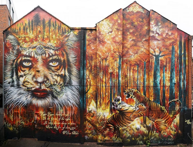 Giornata internazionale della tigre murales