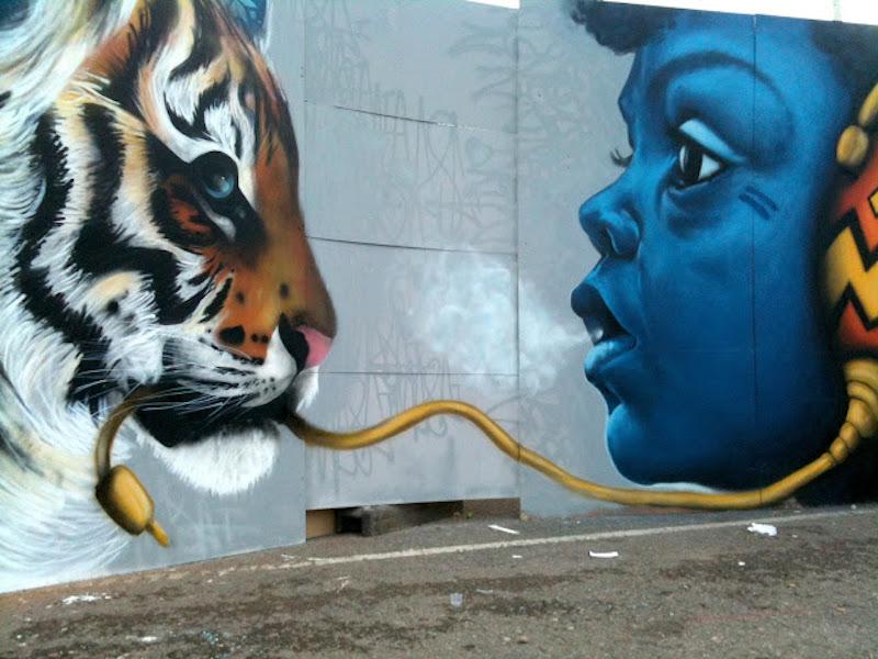 The Tiger Cub. Location: Londra, Regno Unito. Artista: Louis Masai (louismasaimichel.blogspot.com)