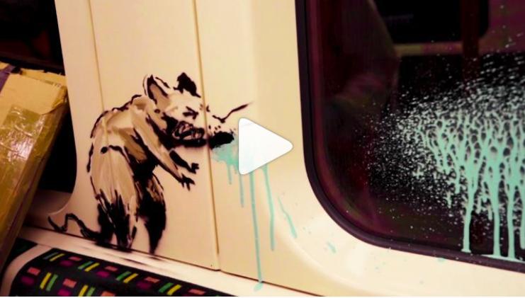 Topi di Banksy sulla metro a Londra